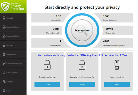 Ashampoo Privacy Protector features