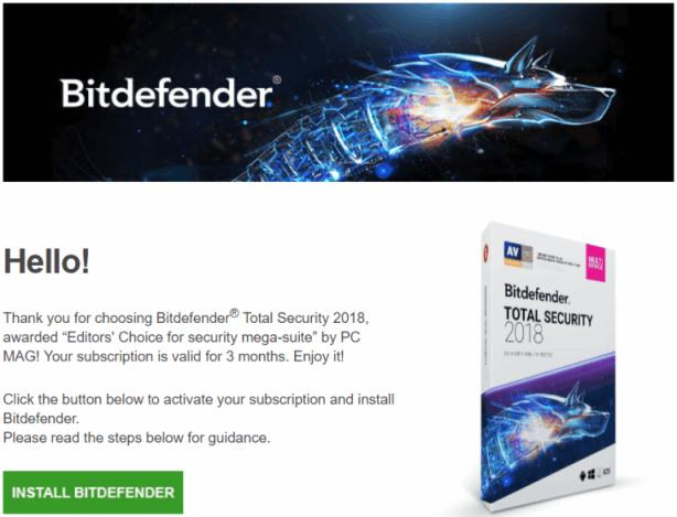 bitdefender trial key