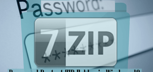 How to Password Protect A ZIP Folder in Windows 10