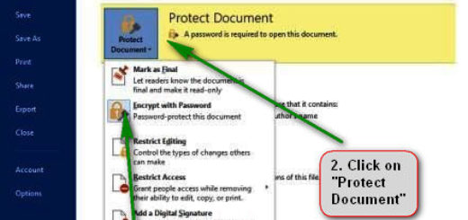 How to Password Protect a Microsoft Word Document