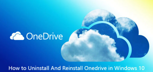 How to Uninstall And Reinstall Onedrive Windows 10