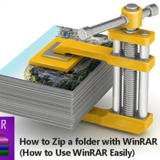 How to Zip a folder with WinRAR