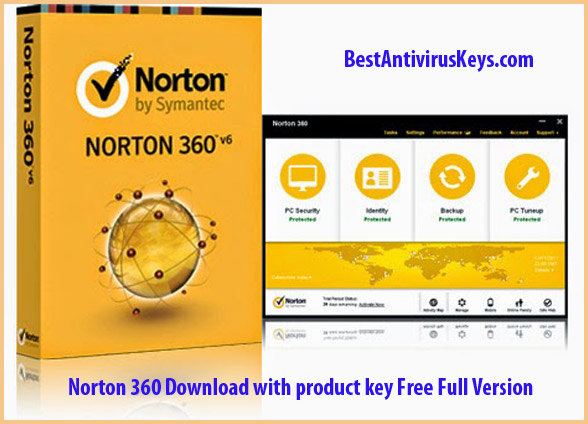Norton 360 download with product key