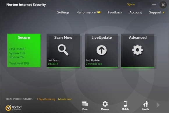 Download 3 months free norton security with backup.