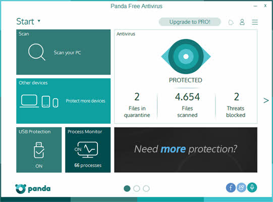 panda free antivirus for malware removal 2019