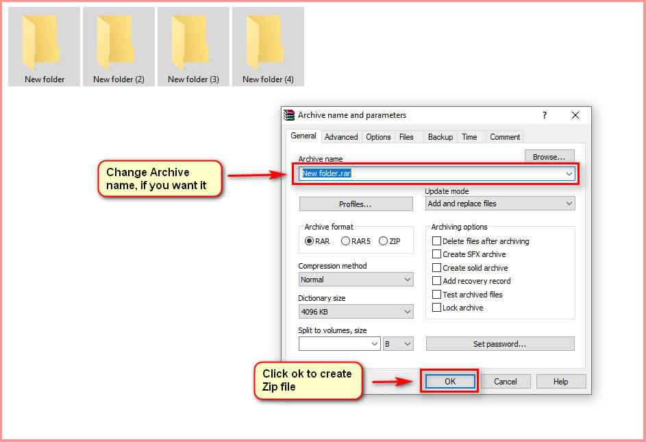 click to create zip file 02