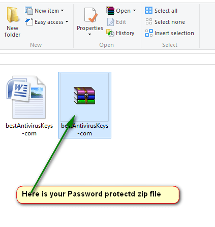 how to create password protected zip windows 8.1