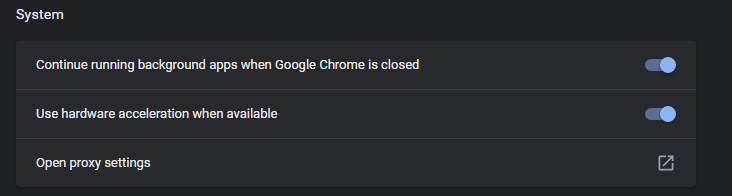 Disable Automatically Detect proxy Settings in chrome