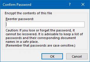 how to password protect an excel 2019 file