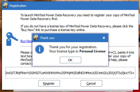 license key for minitool power data recovery v8.0