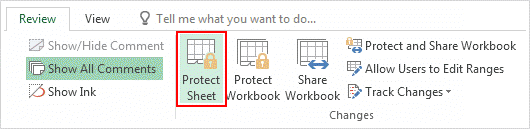 how to set password to unhide excel sheet