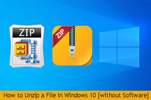 how to unzip a file in windows 10