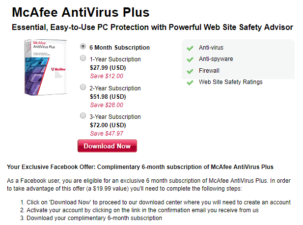 Product Code Delivered via Email; One-time Purchase for 1 Device, PC, or Mac; 1-year Prepaid Payroll Enhanced Subscription (0) Compare Product. Sign In For Price. $ McAfee Antivirus Plus (10 Devices, Product Key Card, 1-Year Subscription).