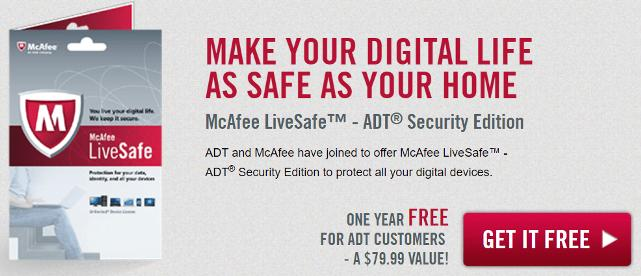McAfee LiveSafe ADT Security 2018 License Key Free