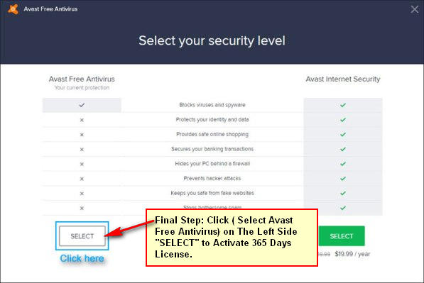 avast free internet security license key