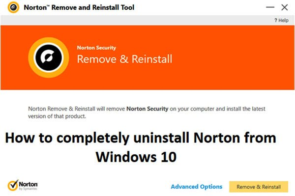 uninstall Norton from Windows 10 completely